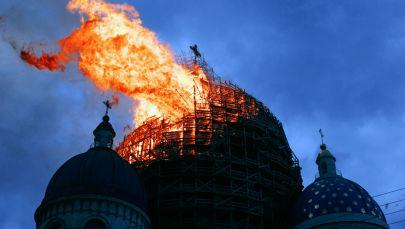 Troitsky Monastery on Fire