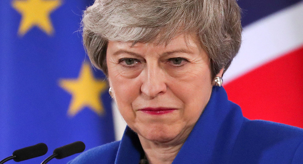 British Prime Minister Theresa May holds a news conference following an extraordinary European Union leaders summit to discuss Brexit, in Brussels, Belgium April 11, 2019