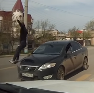 Look Both Ways: Pedestrian Learns Painful Traffic Lesson in Astrakhan