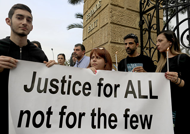 Demonstrators in Cyprus call for justice for the serial killer's victims