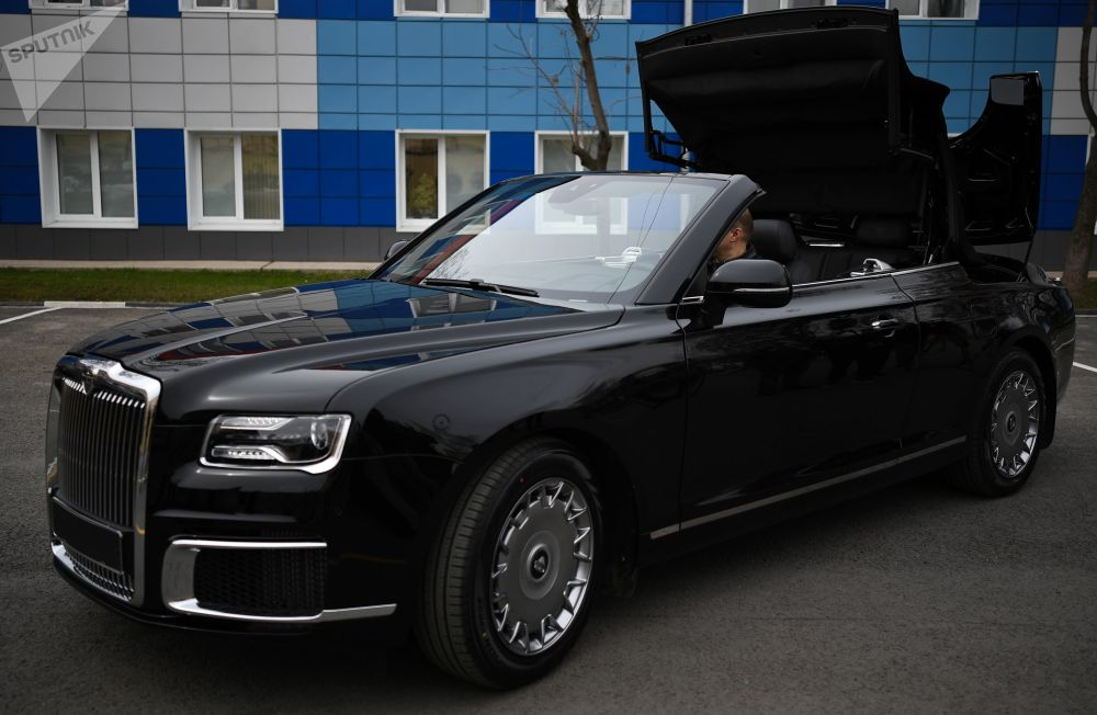 Cruisin' With the Top Down: Luxurious Aurus Senat Convertible