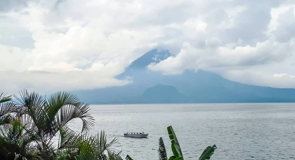 A photo of Lake Peten Itza taken from the Jagiellonian University project's Facebook page