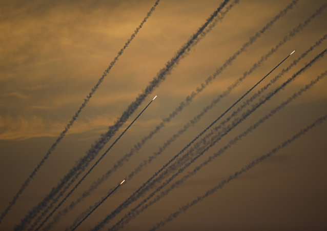 Rockets are launched from Gaza Strip to Israel, Sunday, May 5, 2019