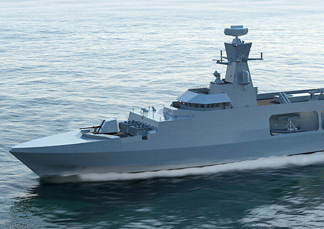 BAE's proposal for the Type 31 frigate for the royal navy, a lengthened version of the Khareef class corvettes built previously by BAE for the Omani Navy