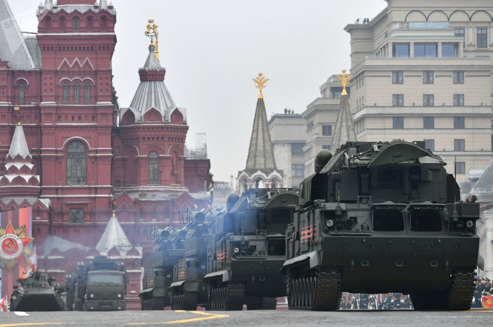 Tor-M2 Missile Systems During the Victory Day Parade at Moscow's Red Square