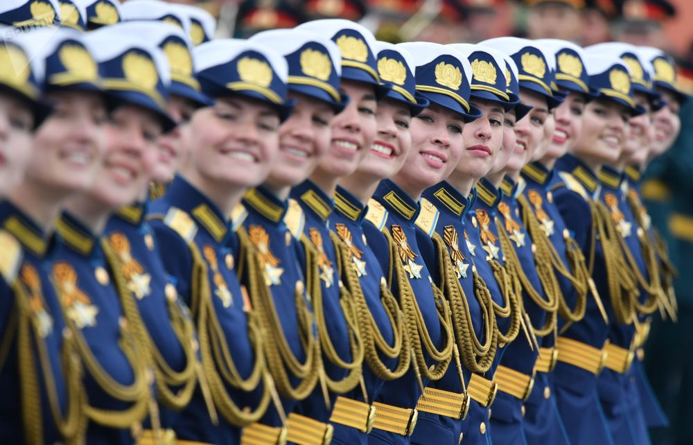 Servicewomen During the Victory Day Parade