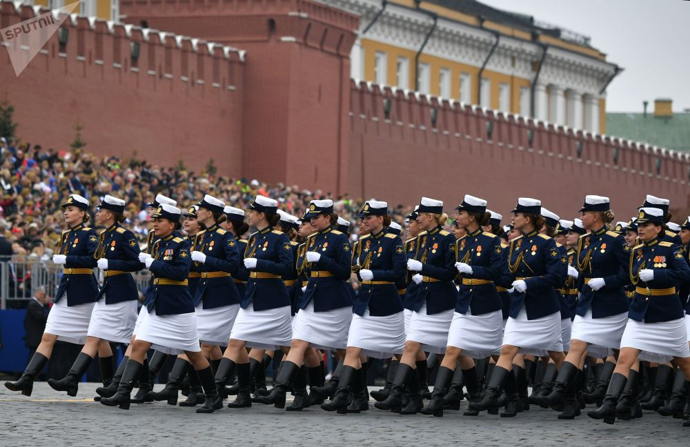 Russian Servicewomen in the Victory Day Parade