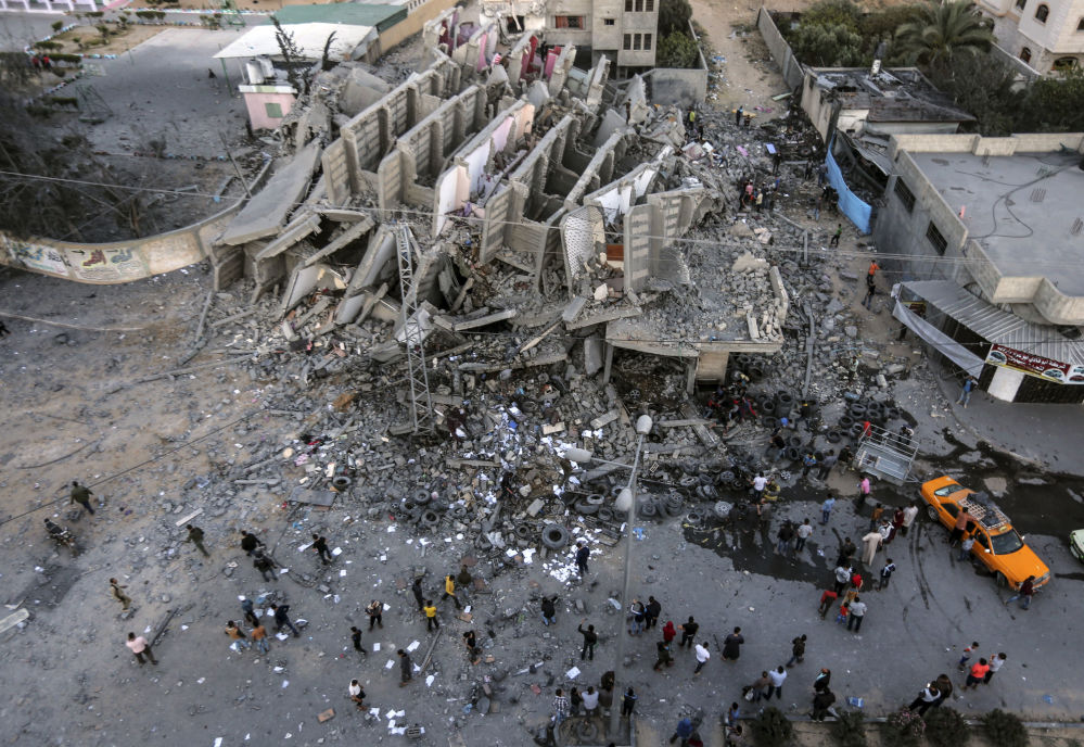 The Remains of a Building in Gaza City