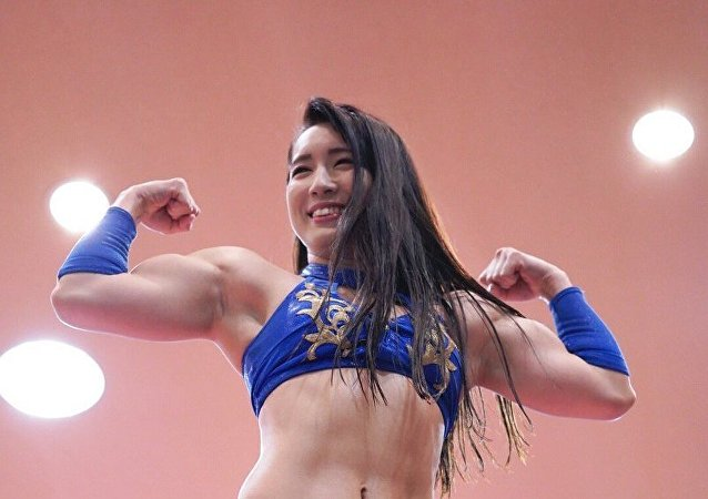 Japan's Wrestler and Idol Reika Saiki Shows Off Her Ripped Biceps in Workout Videos