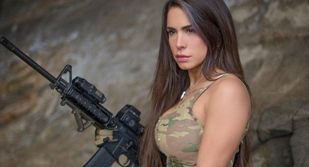 """Orin Julie, also known on social media as """"The Queen of Guns,"""" is a veteran of the Israel Defense Forces (IDF), and believes that the US has the best gun laws in the world."""