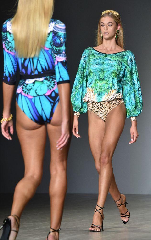 Models Present Creation by Aqua Blu