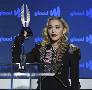Honoree Madonna accepts the advocate for change award at the 30th annual GLAAD Media Awards at the New York Hilton Midtown on Saturday, May 4, 2019, in New York