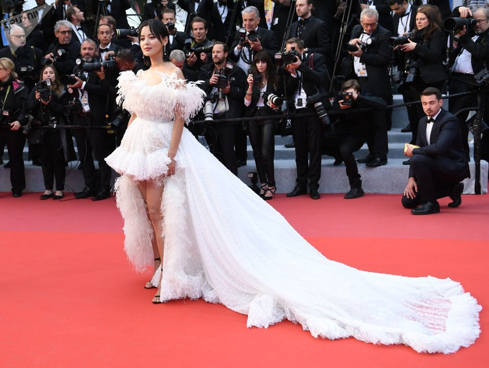 Hong Kong Actress Xin Zhilei During the 72nd Cannes Film Festival in France
