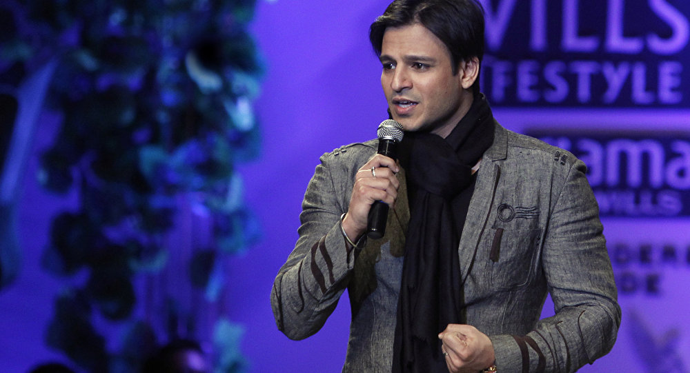 Bollywood actor Vivek Oberoi speaks at the Wills Lifestyle India Fashion Week Autumn Winter 2012 in New Delhi, India, Friday, Feb. 17, 2012