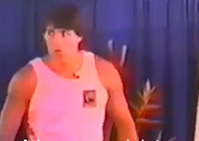 Tony Robbins during 1980s seminar