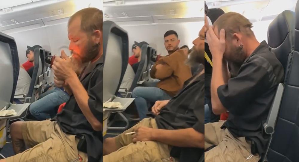 Seemingly Intoxicated Passenger Lights Cigarette on US Flight