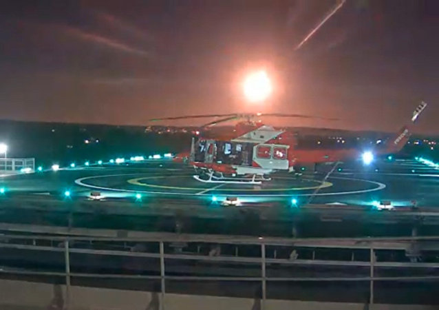 Meteor footage from RAH helipad