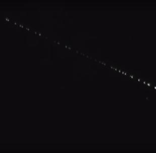 Space X Starlink satellites
