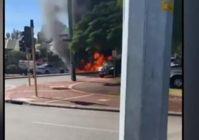 Australia Ferrari Crash