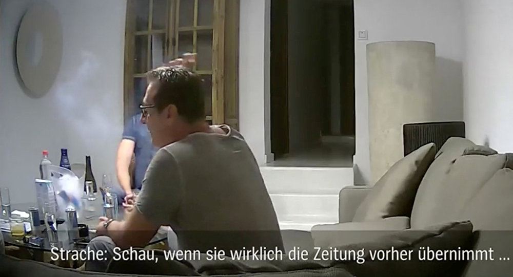 A still image from a footage shot in Ibiza, Spain in July 2017 that has caused Austrian politician Heinz-Christian Strache to step down as vice chancellor and Freedom Party leader