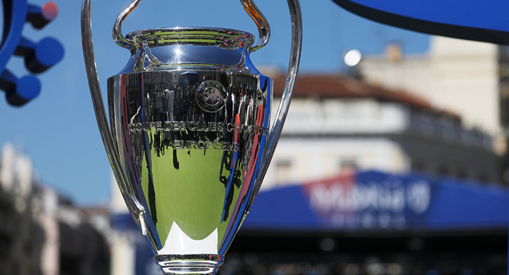 The 2019 trophy arrives in Madrid - Madrid, Spain - May 30, 2019 General view of the trophy