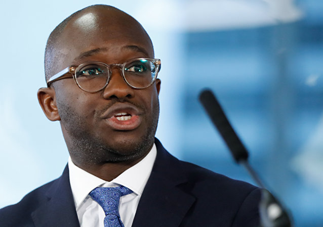 Conservative MP Sam Gyimah, the former universities minister who resigned over the prime minister's Brexit deal, speaks at an event organised by the People's Vote campaign group supporting a second referendum on the Brexit vote in London on January 7, 2019.