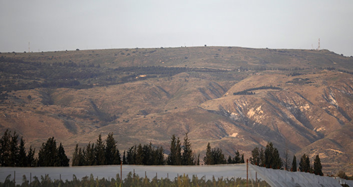 A picture taken on April 23, 2019 shows a general view of the Israeli-annexed Golan Heights, which Israel seized from Syria in the 1967 Six-Day War.