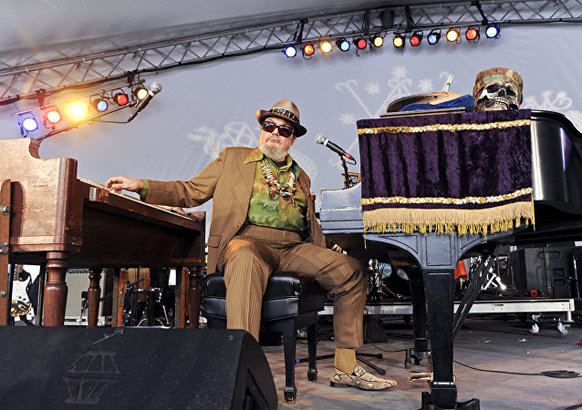 Dr. John (Malcolm John Mac Rebennack, Jr.) of Dr. John and the Lower 911 performs during day 3 of the Voodoo Experience at City Park on Oct. 30, 2011, in New Orleans. (Photo by Amy Harris/Invision/AP)