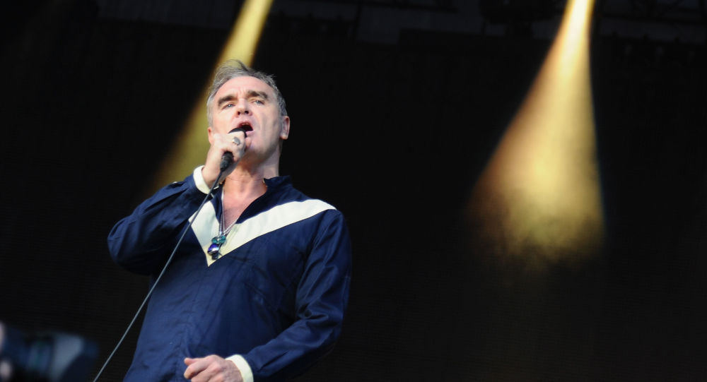 Musician Morrissey performs onstage during day 2 of the Firefly Music Festival on June 19, 2015 in Dover, Delaware.
