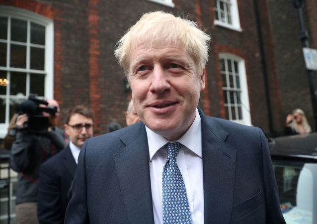 PM hopeful Boris Johnson leaves a building in Westminster, London, Britain, June 26, 2019
