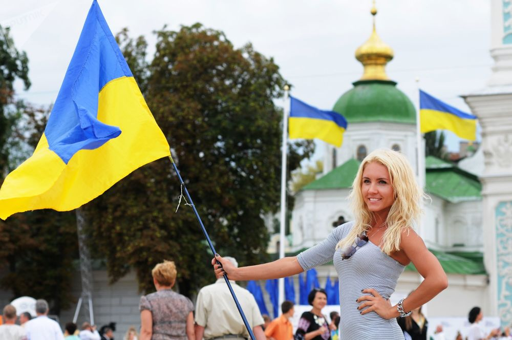 A Ukrainian Girl during Independence Day in Kiev