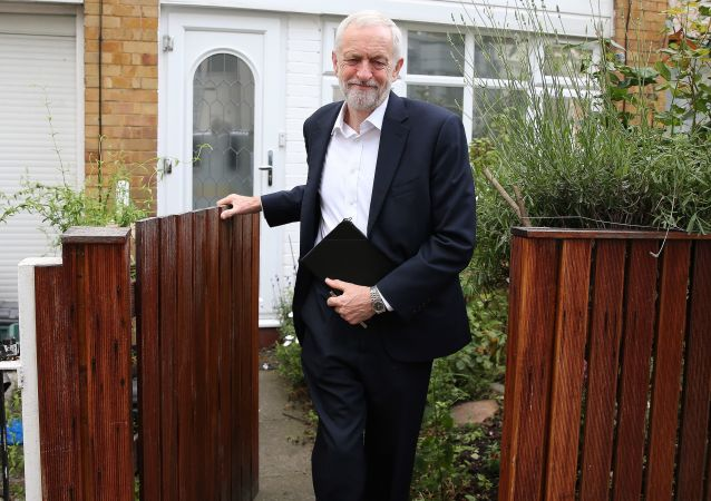 Britain's opposition Labour party leader Jeremy Corbyn leaves his house in north London on June 12, 2019