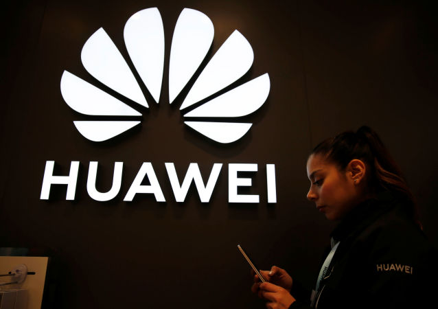 A Huawei signage is pictured at their store at Vina del Mar, Chile  July 14, 2019