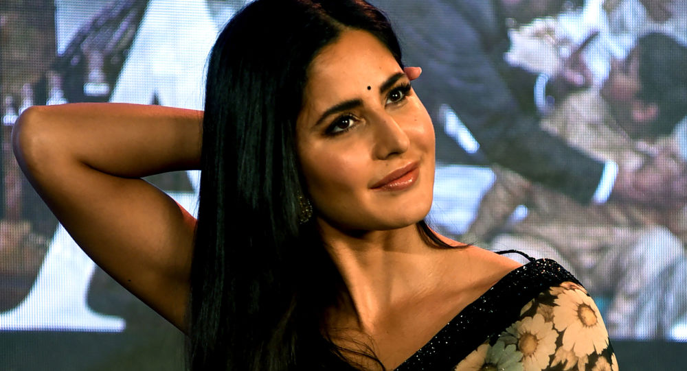 Indian Bollywood actress Katrina Kaif looks on as she attends the launch of her upcoming Hindi film 'Bharat' in Mumbai on May 17, 2019