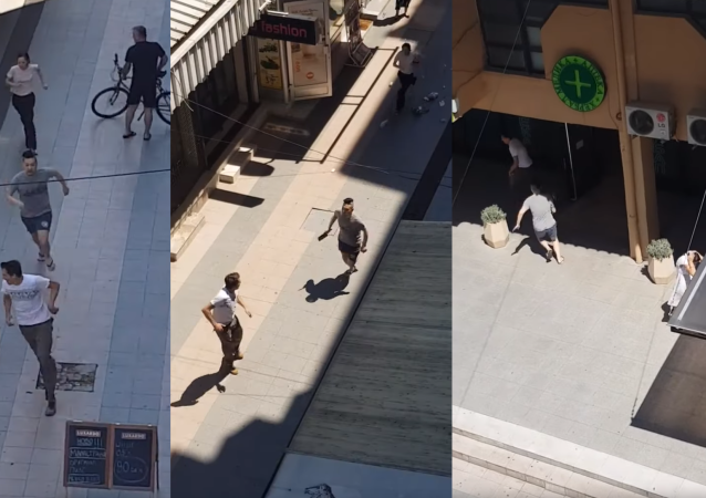 Cleaver-Wielding Vendor Chases Down Man Who Spit in His Food