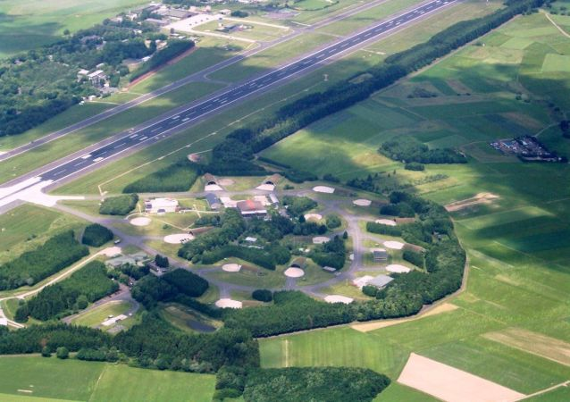 Aerial photograph of Büchel Air Base