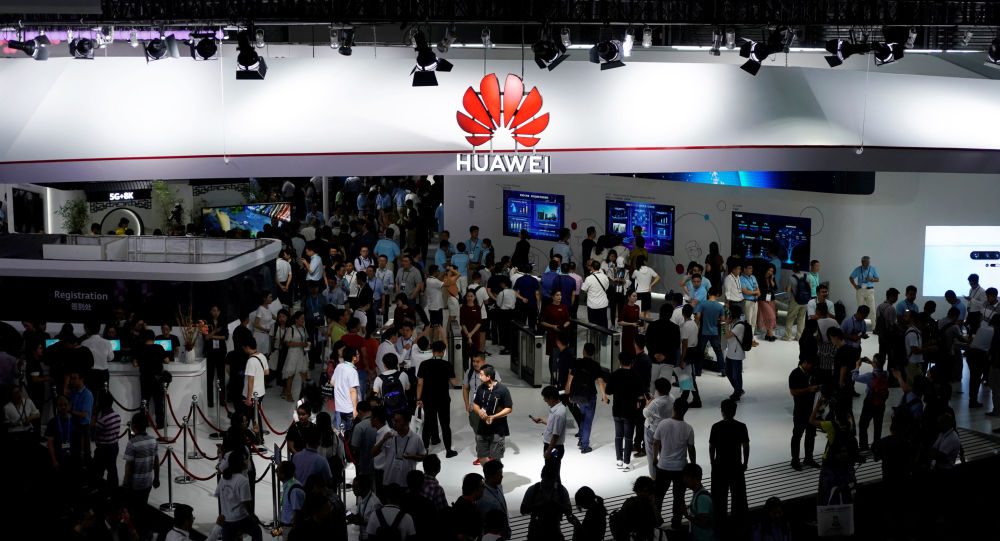 A Huawei logo is pictured at Mobile World Congress (MWC) in Shanghai, China June 28, 2019