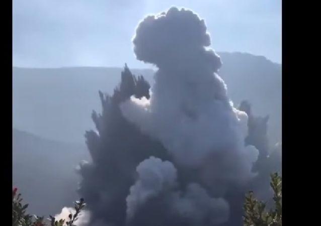 Tangkuban Perahu Volcano Eruptio