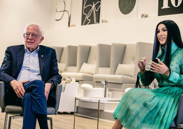 Bernie Sanders and Cardy B