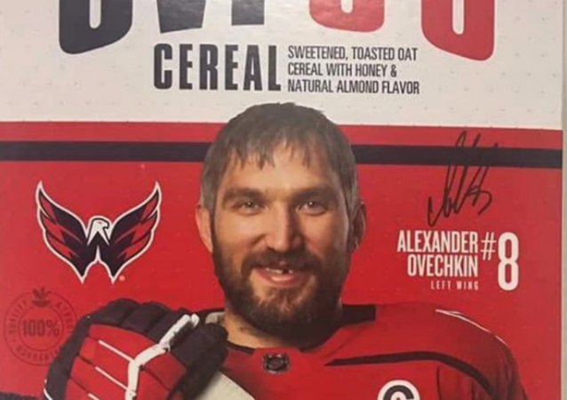 Russian Hockey Star Alex Ovechkin Gets US Cereal Named After Him