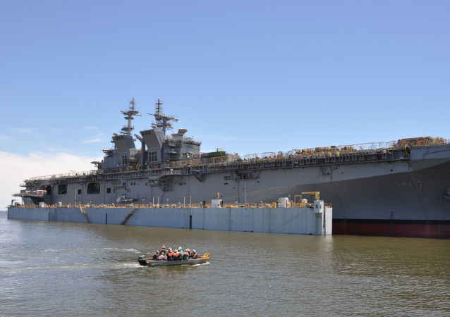 PASCAGOULA, Miss. (May 1, 2017) The future USS Tripoli (LHA 7) is launched at Huntington Ingalls Industries. Tripoli was successfully launched after the dry-dock was flooded to allow it to float off for the first time. Tripoli incorporates an enlarged hangar deck, enhanced maintenance facilities, increased fuel capacity and additional storerooms to provide the fleet with a platform optimized for aviation capabilities. The ship is planned to be christened in 2017 with delivery planned for late 2018