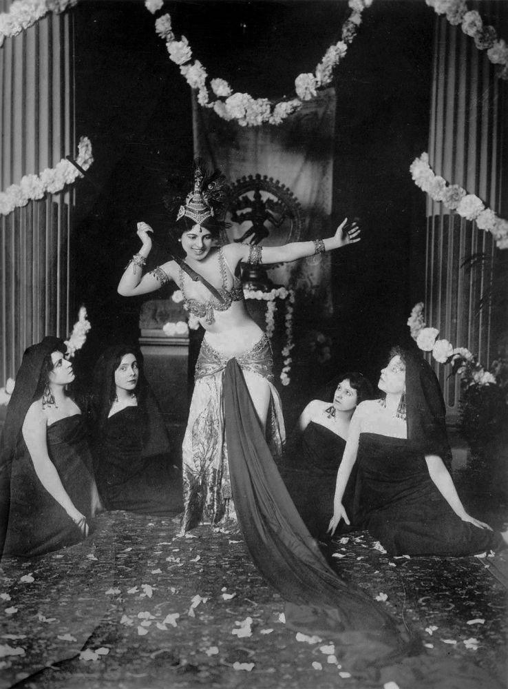 Dancer Mata Hari during a performance in 1905