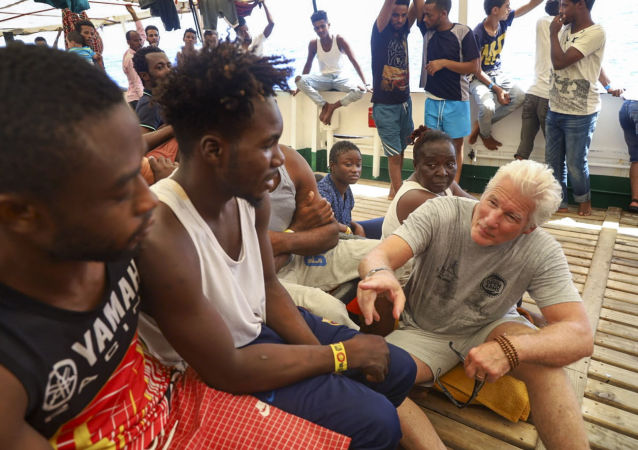 EUROPE MIGRANTS WITH RICHARD GERE