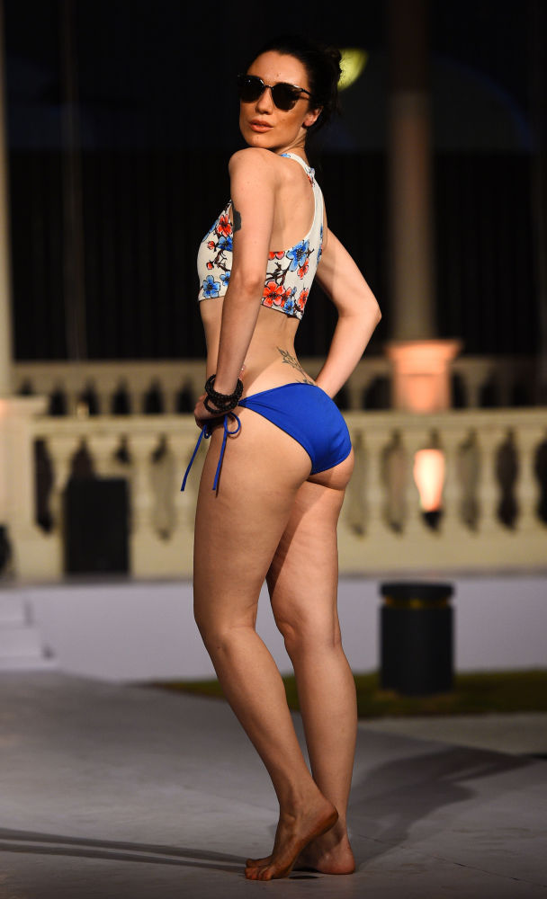Models Sizzle in Swimsuits at Beach Fashion Show in Sri Lanka