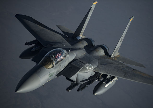 A U.S. F-15E Strike Eagle