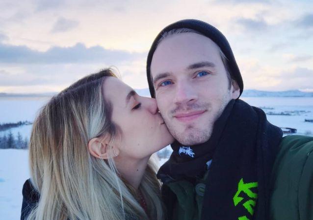 PewDiePie and Marzia Bisognin