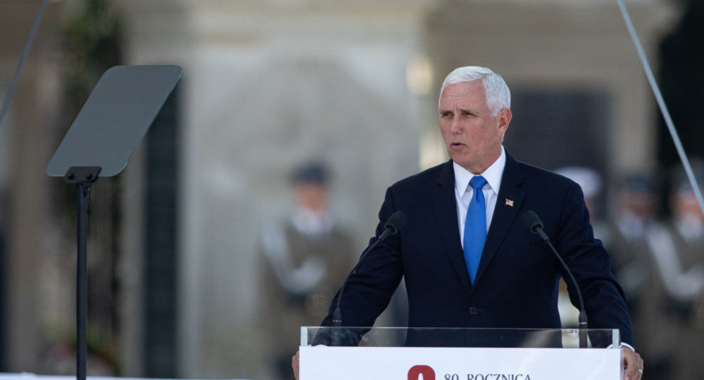 U.S. Vice President Mike Pence delivers a speech during a commemorative ceremony to mark the 80th anniversary of the outbreak of World War Two in Warsaw, Poland September 1, 2019.