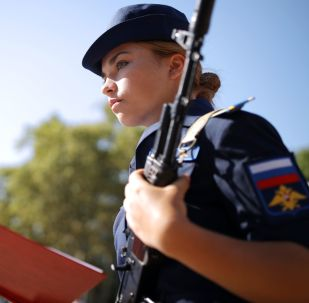 Stunning Cadet Girls Take Military Oath at Russian Aviation School