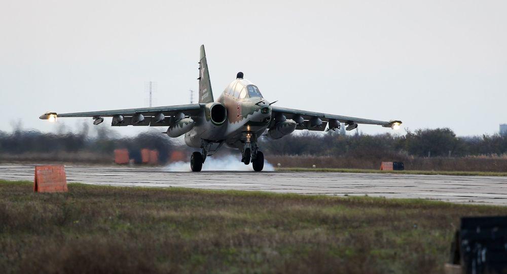 Sukhoi Su-25UB ground-attack aircraft
