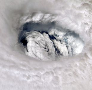 Photograph of Hurricane Dorian made by astronaut Nick Hague aboard the International Space Station on 2 September 2019